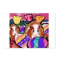GUINEA PIG Easter Design Postcards (Package of 8)