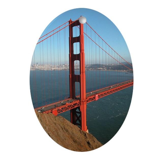 Golden gate bridge gift ornament keepsake oval by rossross for Golden gate bridge jewelry