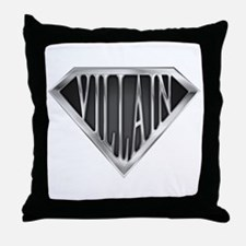 SuperVillain(metal) Throw Pillow