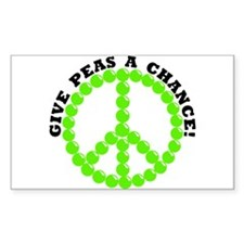 Give Peas A Chance Rectangle Decal