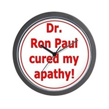 Ron Paul cure-3 Wall Clock