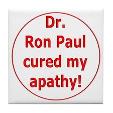 Ron Paul cure-3 Tile Coaster