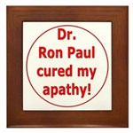 Ron Paul cure-3 Framed Tile