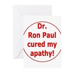 Ron Paul cure-3 Greeting Cards (Pk of 10)
