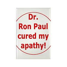 Ron Paul cure-3 Rectangle Magnet