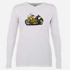 Unique Gold wing Plus Size Long Sleeve Tee