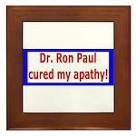 Ron Paul cure-4 Framed Tile