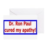 Ron Paul cure-4 Greeting Card