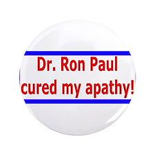 """Ron Paul cure-4 3.5"""" Button"""