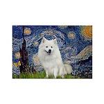 Starry-Am. Eskimo Dog Rectangle Magnet