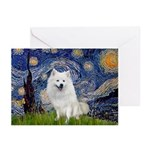 Starry-Am. Eskimo Dog Greeting Cards (Pk of 10)