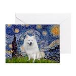 Starry-Am. Eskimo Dog Greeting Card