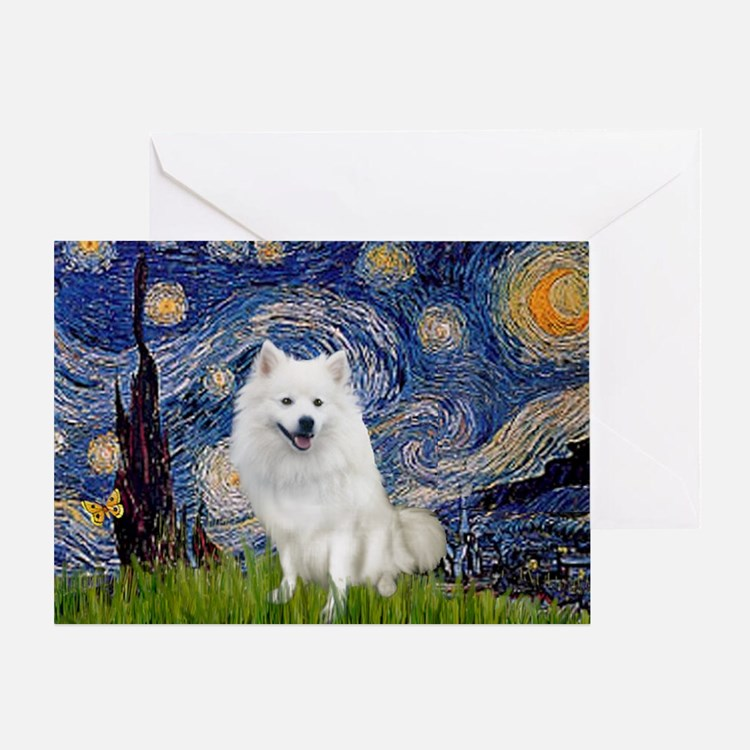 Starry-Am. Eskimo Dog Greeting Card