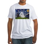 Starry-Am. Eskimo Dog Fitted T-Shirt