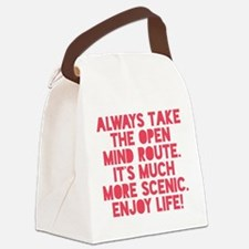 The Open Mind Route Canvas Lunch Bag