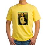 MonaLisa-AmEskimoDog Yellow T-Shirt