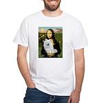 MonaLisa-AmEskimoDog White T-Shirt