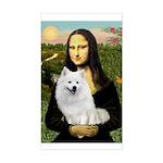 MonaLisa-AmEskimoDog Sticker (Rectangle)