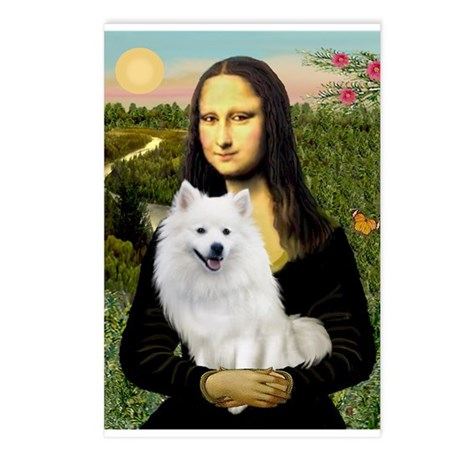 MonaLisa-AmEskimoDog Postcards (Package of 8)