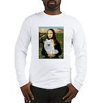 MonaLisa-AmEskimoDog Long Sleeve T-Shirt