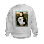 MonaLisa-AmEskimoDog Kids Sweatshirt