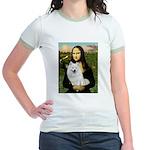 MonaLisa-AmEskimoDog Jr. Ringer T-Shirt