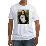 MonaLisa-AmEskimoDog Fitted T-Shirt