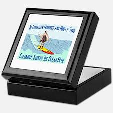 columbus surfed 2 Keepsake Box