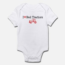 I Love Red Tractors Infant Bodysuit