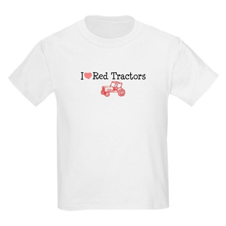I Love Red Tractors Kids Light T-Shirt