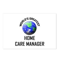 World's Greatest HOME CARE MANAGER Postcards (Pack