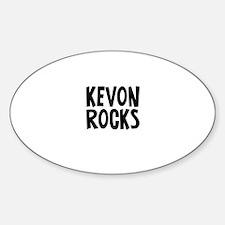 Kevon Rocks Oval Decal
