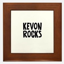 Kevon Rocks Framed Tile