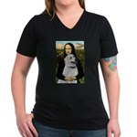 MonaLis-Anatolian Shep1 Women's V-Neck Dark T-Shir