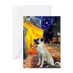 Cafe-AnatolianShep2 Greeting Card