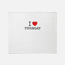 I Love TUGBOAT Throw Blanket