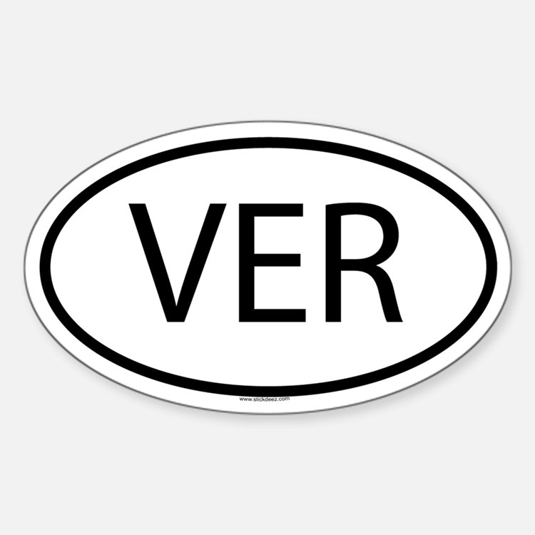 VER Oval Decal