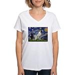 Starry-AnatolianShep 2 Women's V-Neck T-Shirt