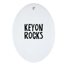 Keyon Rocks Oval Ornament