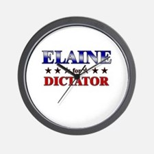ELAINE for dictator Wall Clock