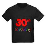 30th birthday Kids T-shirts (Dark)