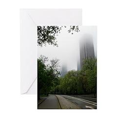 Foggy Central Park Greeting Card