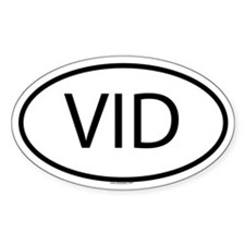 VID Oval Decal