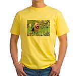 Irises - Aussie Terrier Yellow T-Shirt