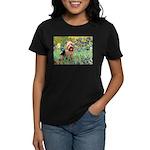 Irises - Aussie Terrier Women's Dark T-Shirt