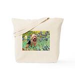 Irises - Aussie Terrier Tote Bag