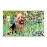 Irises - Aussie Terrier Sticker (Rectangle)
