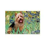 Irises - Aussie Terrier Rectangle Magnet (10 pack)