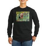 Irises - Aussie Terrier Long Sleeve Dark T-Shirt