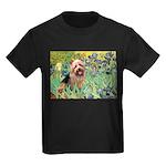 Irises - Aussie Terrier Kids Dark T-Shirt